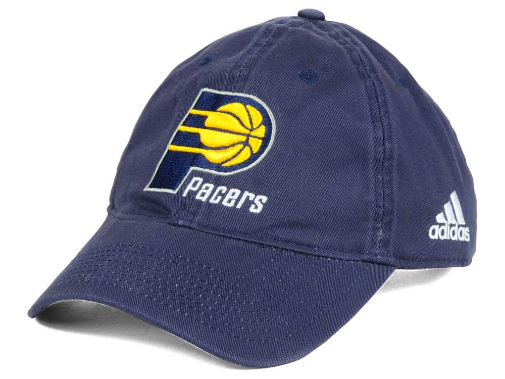 Indiana Pacers adidas NBA Slouch Adjustable Cap  f92b0356af6