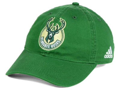 Milwaukee Bucks adidas NBA Slouch Adjustable Cap