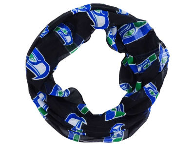 Seattle Seahawks Forever Collectibles All Over Logo Infinity Wrap Scarf