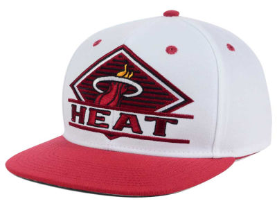 Miami Heat adidas NBA White Diamond Snapback Cap