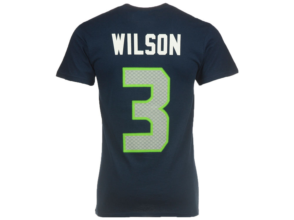 Seattle Seahawks Russell Wilson Majestic NFL Men s Eligible Receiver III T- Shirt  74aab4c88