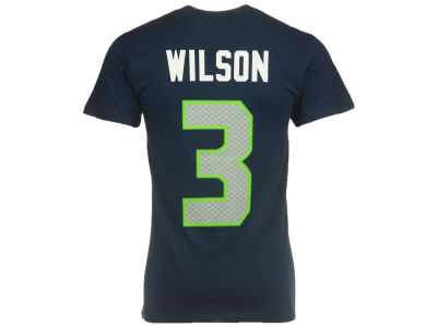 Seattle Seahawks Russell Wilson Majestic NFL Men's Eligible Receiver III T-Shirt