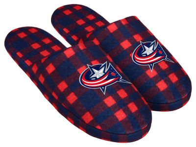 Columbus Blue Jackets Flannel Slide Slipper