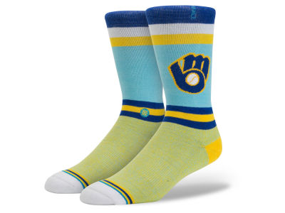 Milwaukee Brewers MLB Diamond Collection Socks
