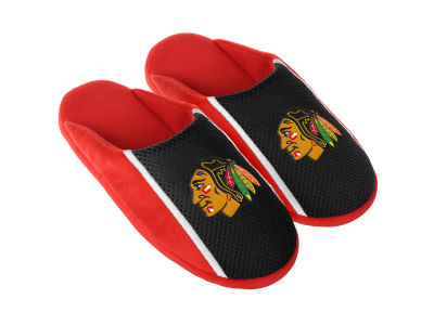 Chicago Blackhawks Forever Collectibles Jersey Youth Slide Slippers