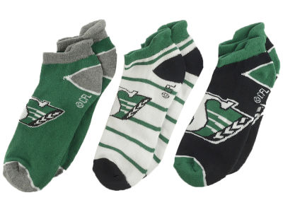 Saskatchewan Roughriders 3-pack Women's No Show Socks