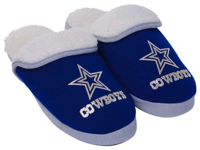 Dallas Cowboys Women's Glitter Patch Slippers
