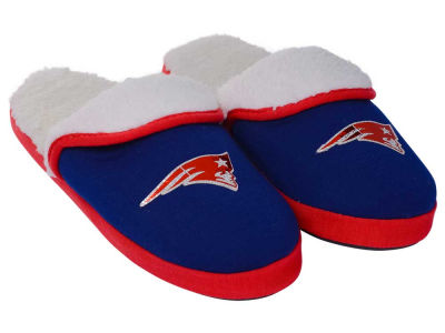 New England Patriots Women's Glitter Patch Slippers