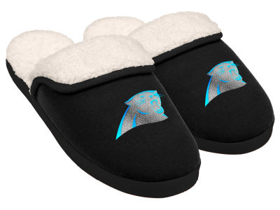 Carolina Panthers Women's Glitter Patch Slippers