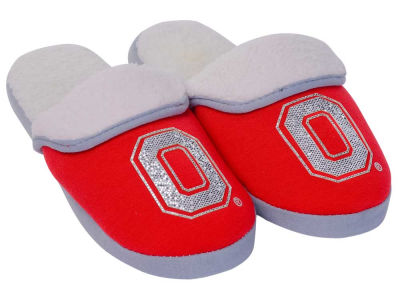 Ohio State Buckeyes Women's Glitter Patch Slippers