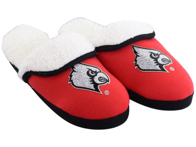 Louisville Cardinals Women's Glitter Patch Slippers