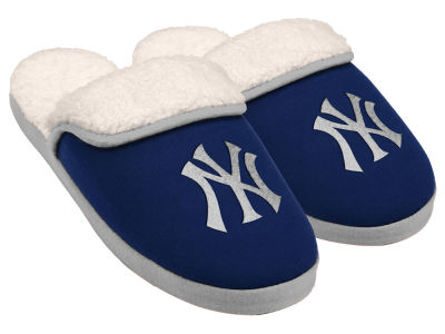 New York Yankees Women's Glitter Patch Slippers