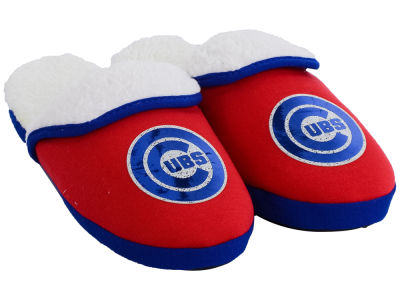 Chicago Cubs Women's Glitter Patch Slippers