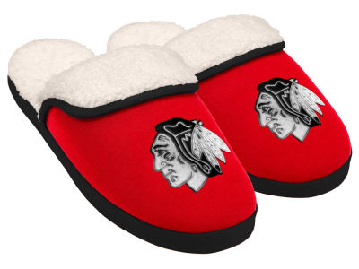 Chicago Blackhawks Women's Glitter Patch Slippers
