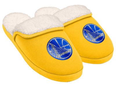 Golden State Warriors Women's Glitter Patch Slippers