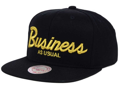 Business As Usual Script Snapback Hat