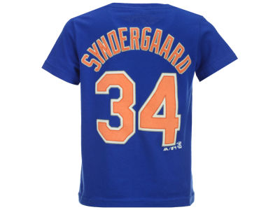 New York Mets Noah Syndergaard Majestic MLB Kids Official Player T-Shirt