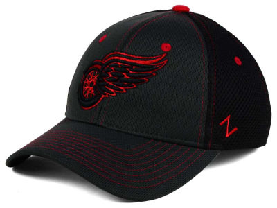 Detroit Red Wings Zephyr NHL Blacklight Flex Cap