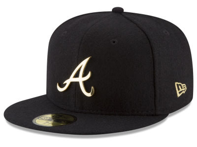 Atlanta Braves New Era MLB Premium O'League Gold 59FIFTY Cap