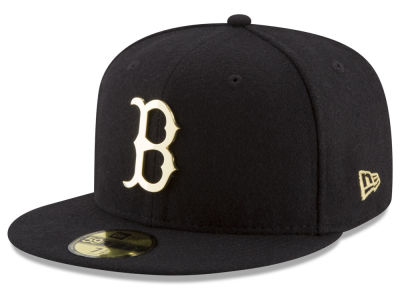 Boston Red Sox New Era MLB Premium O'League Gold 59FIFTY Cap
