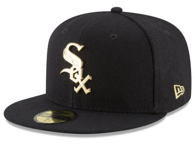 Chicago White Sox New Era MLB Premium O'League Gold 59FIFTY Cap