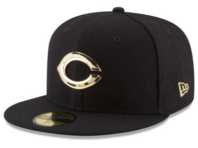Cincinnati Reds New Era MLB Premium O'League Gold 59FIFTY Cap