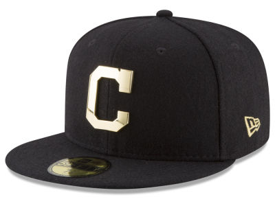 Cleveland Indians New Era MLB Premium O'League Gold 59FIFTY Cap