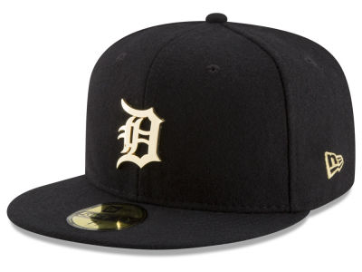 Detroit Tigers New Era MLB Premium O'League Gold 59FIFTY Cap
