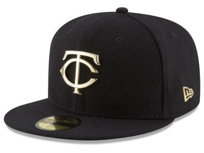 Minnesota Twins New Era MLB Premium O'League Gold 59FIFTY Cap