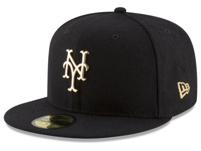 New York Mets New Era MLB Premium O'League Gold 59FIFTY Cap