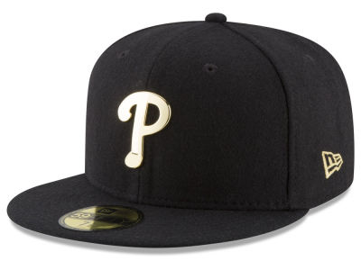 Philadelphia Phillies New Era MLB Premium O'League Gold 59FIFTY Cap