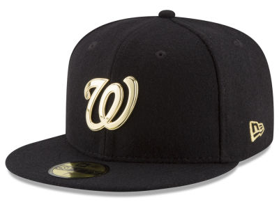 Washington Nationals New Era MLB Premium O'League Gold 59FIFTY Cap