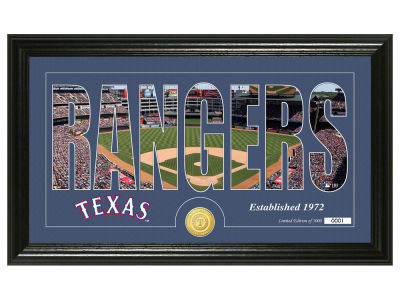 Texas Rangers Highland Mint Silhouette Word Art Photo Mint
