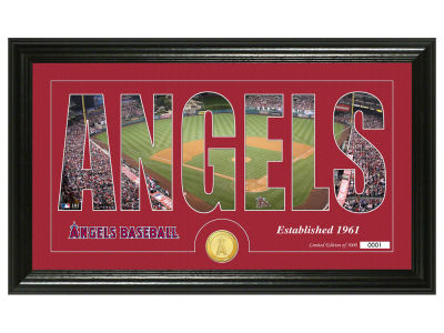 Los Angeles Angels Silhouette Word Art Photo Mint