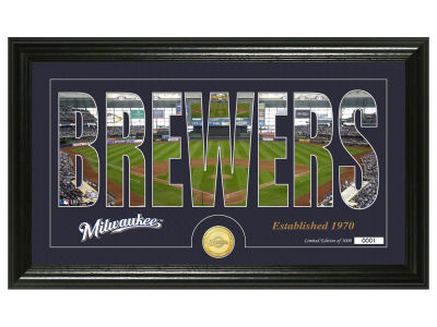 Milwaukee Brewers Silhouette Word Art Photo Mint