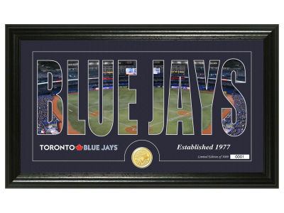Toronto Blue Jays Highland Mint Silhouette Word Art Photo Mint