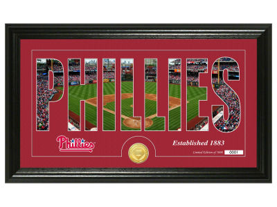 Philadelphia Phillies Silhouette Word Art Photo Mint