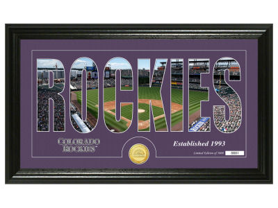 Colorado Rockies Silhouette Word Art Photo Mint