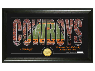 Oklahoma State Cowboys Silhouette Word Art Photo Mint