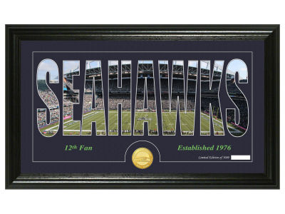Seattle Seahawks Silhouette Word Art Photo Mint