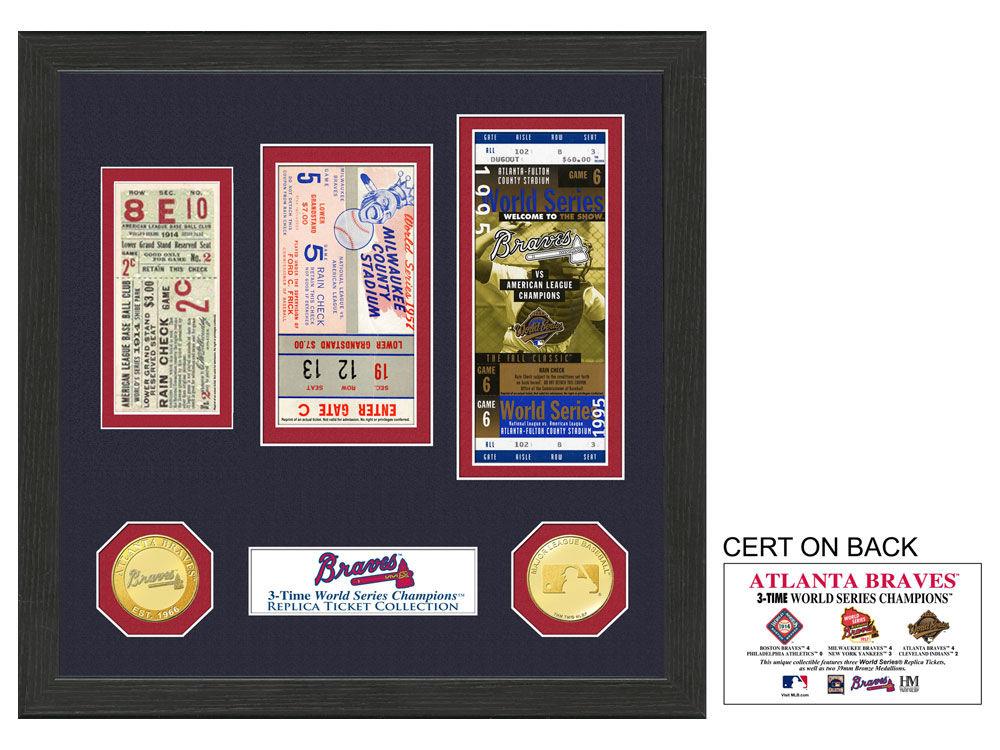 Atlanta Braves Highland Mint Ticket Frame | lids.ca