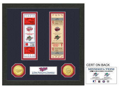 Minnesota Twins Ticket Frame