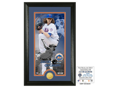 New York Mets Jacob deGrom Supreme Bronze Coin Photo Mint