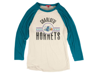 Charlotte Hornets Mitchell and Ness NBA Women's Victory Raglan T-Shirt