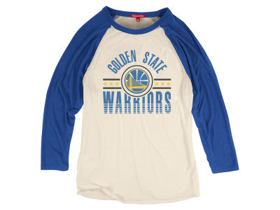 Golden State Warriors Mitchell and Ness NBA Women's Victory Raglan T-Shirt