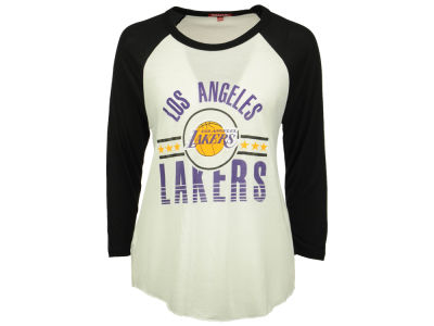 Los Angeles Lakers Mitchell and Ness NBA Women's Victory Raglan T-Shirt