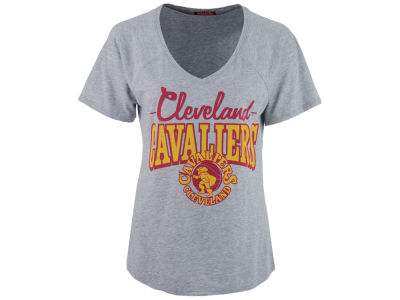 Cleveland Cavaliers Mitchell and Ness NBA Women's Score V-Neck T-Shirt