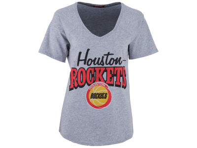 Houston Rockets Mitchell and Ness NBA Women's Score V-Neck T-Shirt