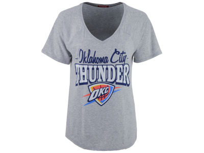Oklahoma City Thunder Mitchell and Ness NBA Women's Score V-Neck T-Shirt