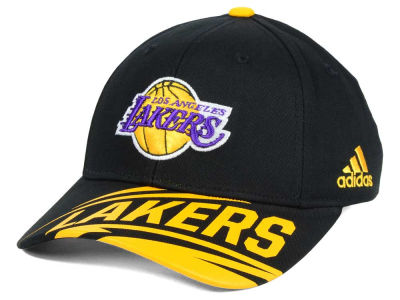 Los Angeles Lakers adidas NBA Youth Layup Adjustable Cap